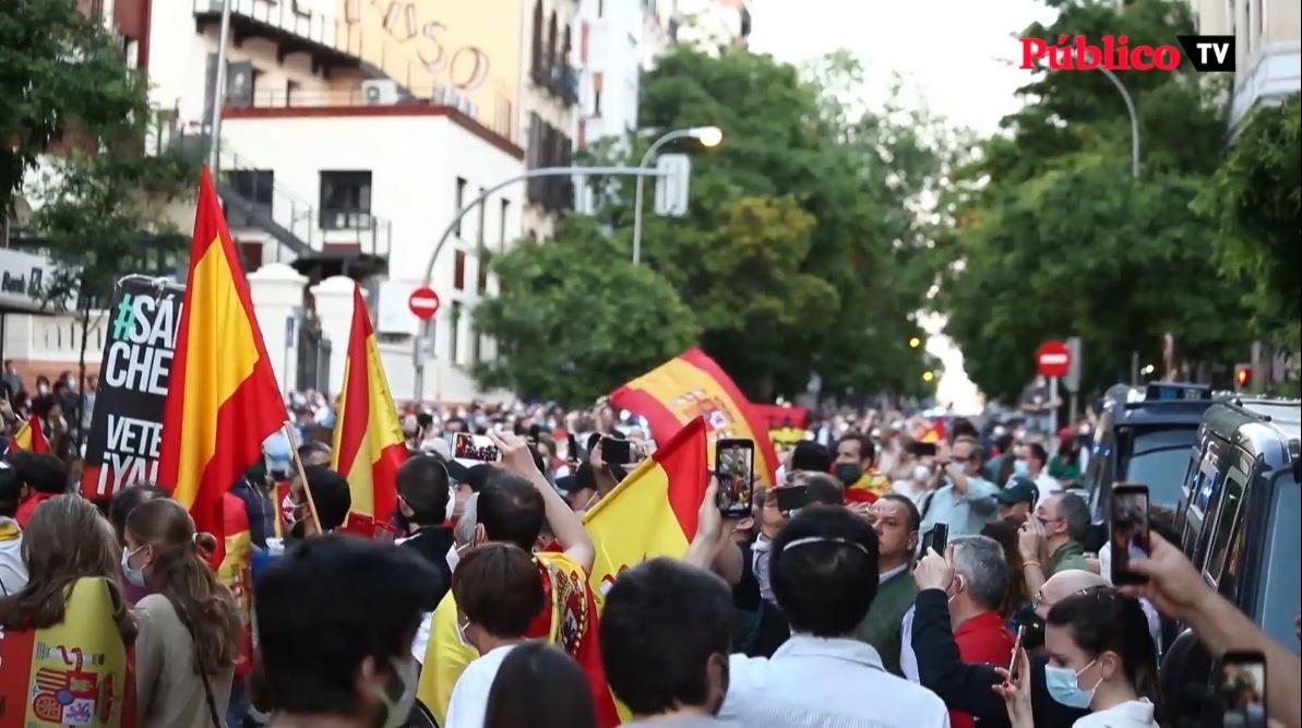 La milla de oro de Madrid se moviliza en contra del Gobierno